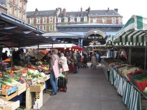 Local market in Rouen
