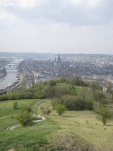 Panoramic view of Rouen