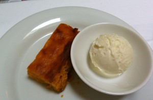 squash cake with icecream