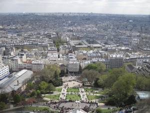 At the top looking at the base of the Sacre Coeur