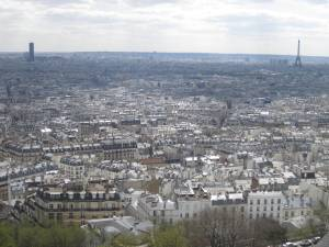 View from the top of Sacre Coeur